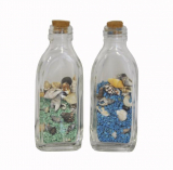 Shells In Bottle Coloured Sand 9cm