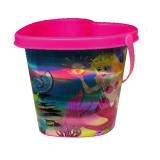 Bucket 16cm Mermaid Heart Holographic