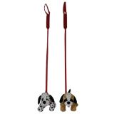 Plush Dog On Lead 18cm