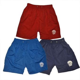 Boys Plain Shorts 8-13 With Logo