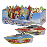 Boats 20cm Holographic In Display Box