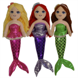 Mermaid Soft Doll - 3 Assorted 46cm