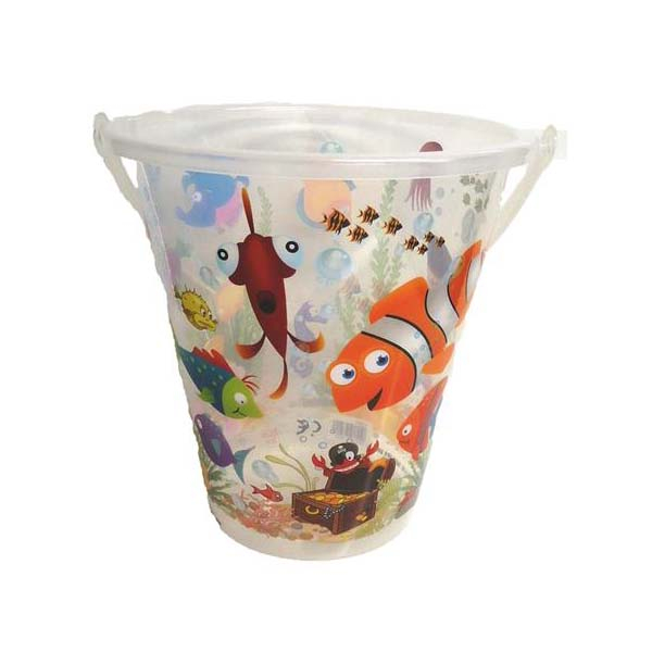 Bucket clear 9 inch fish design palgrave for Bucket of fish