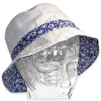 Hat Ladies Bucket Shape Patterned Band