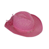 Hat Girls Pink With Bead Band