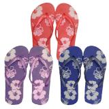 Shoe Floral F/flop 3-8 Uk (36-41 Eu) 3as