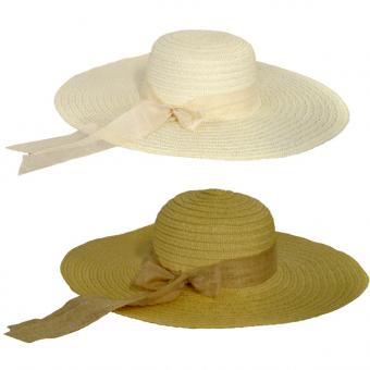 Hat Ladies Coloured Ribbon