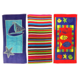 Beach Towel 3 Assorted 140cm X 70cm