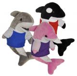 Plush Shark Whale Dolphin W/t Shirt