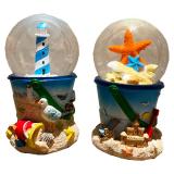65mm Water Globe Lighthouse / Starfish