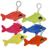 Plush Dolphin Key Ring (12cm)