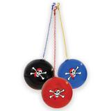 Skull And Crossbone Ball On Keychain