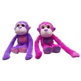 Plush Monkey With Sparkle Eyes