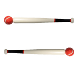 Wooden Rounders Bat With Ball18in