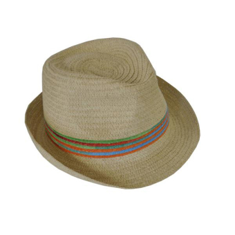 Hat Ladies Trilby With Rainbow Band