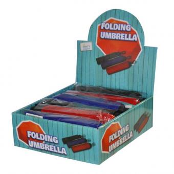 Umbrella 3 Folding Plain 21inch 8 Spoke