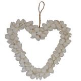 Shell Heart White Clamrose 8 Inch