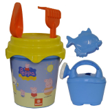 B/set Peppa Pig W/can 17cm
