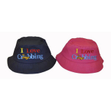 Hat Kids Bucket Shape I Love Crabbing