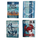 Magnet Printed  Seaside Motto 4 Asstd