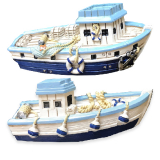 **magnet Resin  Boats Blue 2 Assorted**