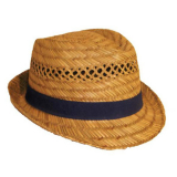 Hat Adults Straw Trilby