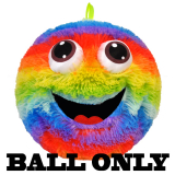 Furry Face Rainbow Ball W/3d Eyes