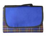 Blue Tartan Picnic Mat 145cm X 130cm