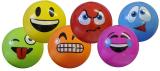 Deflated Smile Ball 15cm 6 Assorted