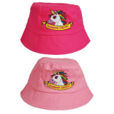 Hat Childs Rainbow Unicorn Bucket Style