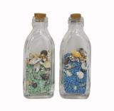 Shells In Bottle Coloured Sand 9cm