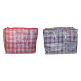 Beach Bag Red Check Pattern Large