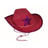 Hat Ladies Pink Cowboy Star